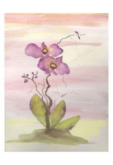Orchid Trio 1-Debbie Pearson-Art Print