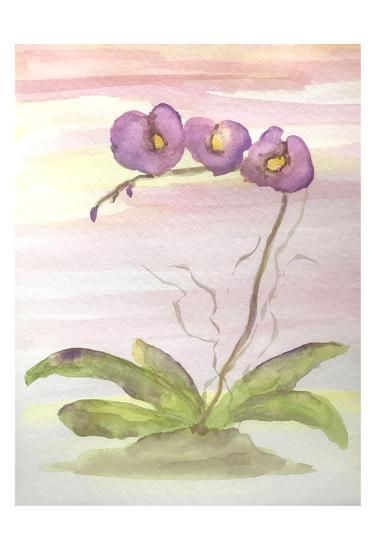 Orchid Trio 2-Debbie Pearson-Art Print