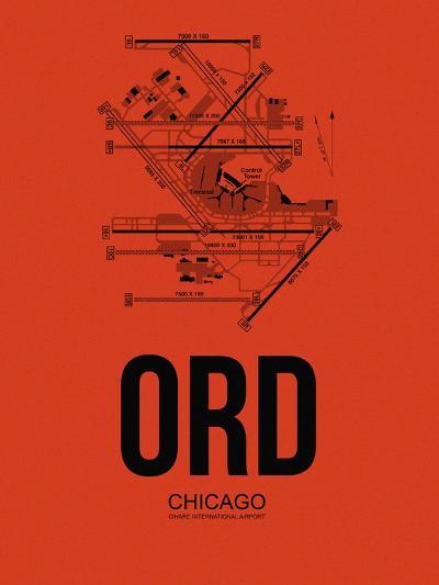 ORD Chicago Airport Orange-NaxArt-Art Print