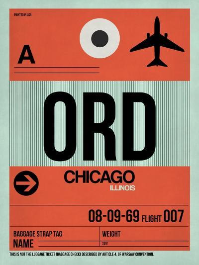 ORD Chicago Luggage Tag 2-NaxArt-Art Print