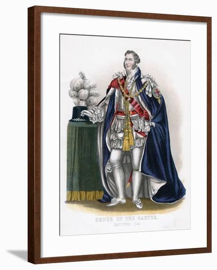 Order of the Garter, 19th Century--Framed Giclee Print