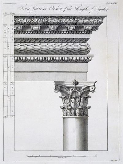 Order of the Portico to the Vestibulum in the Peristylium-Robert Adam-Giclee Print