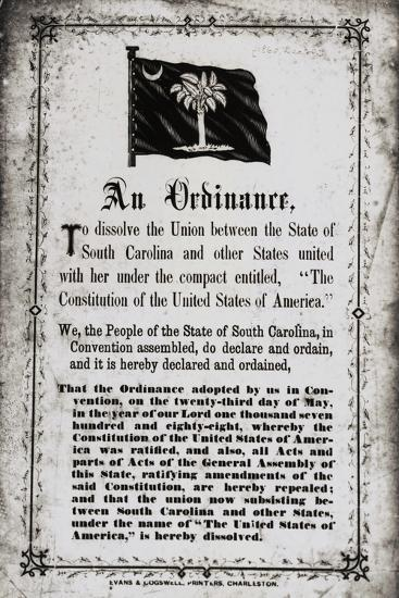 Ordinance to Dissolve the Union--Photographic Print