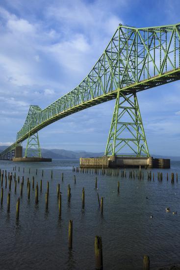 Oregon, Astoria, Astoria-Megler Bridge-Rick A^ Brown-Photographic Print
