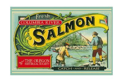 Oregon - Columbia River - the Oregon Historical Society Salmon Label-Lantern Press-Art Print