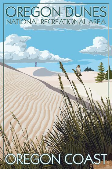 Oregon Dunes National Recreational Area - Day Scene-Lantern Press-Art Print