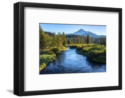 Oregon. Mt. Bachelor and Deschutes River-Jaynes Gallery-Framed Photographic Print