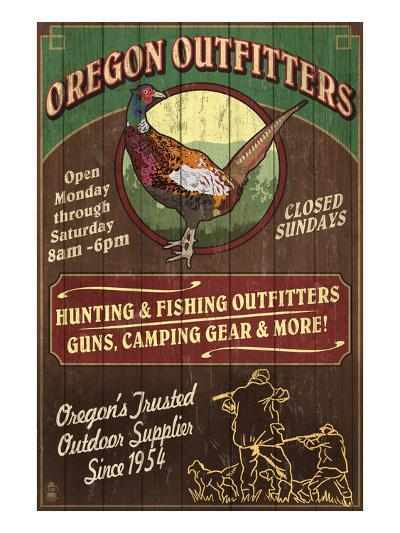 Oregon Outfitters - Pheasant-Lantern Press-Art Print