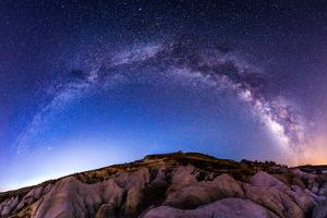 Milky Way Panoramic at Paint Mines by Oregon Photo by Matt Payne of Portland