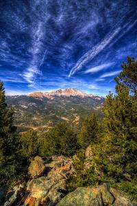 Pikes Peak and Blue Sky by Oregon Photo by Matt Payne of Portland