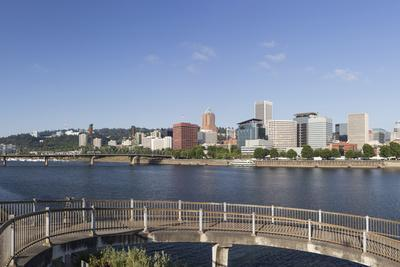Oregon, Portland. Downtown from across the Willamette River-Brent Bergherm-Photographic Print