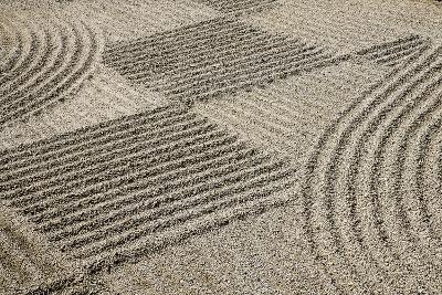 Oregon, Portland. Zen Patterns in Sand-Jaynes Gallery-Photographic Print