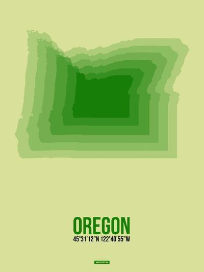 Oregon Radiant Map 3-NaxArt-Art Print
