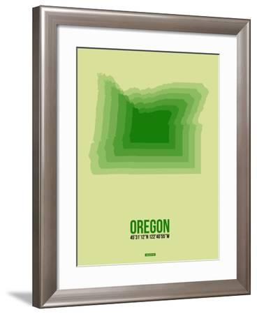 Oregon Radiant Map 3-NaxArt-Framed Art Print