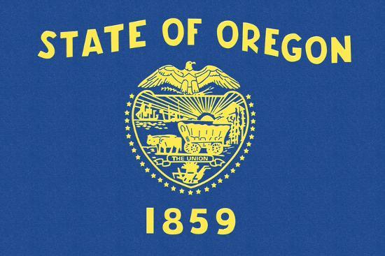 Oregon State Flag-Lantern Press-Art Print