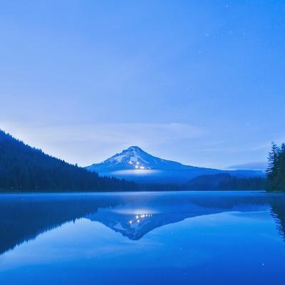 Oregon, United States of America; Mt. Hood Reflected into Trillium Lake-Design Pics Inc-Photographic Print