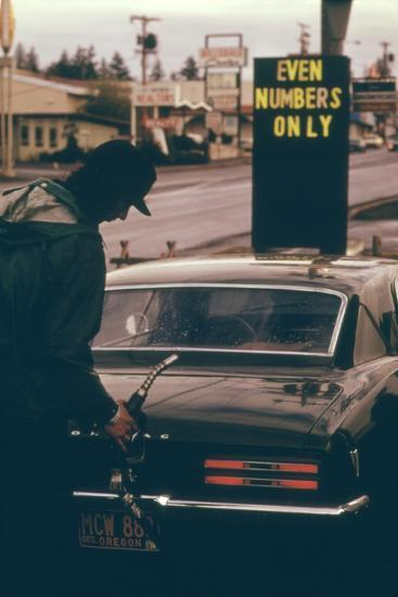 Oregon Used Odd and Even License Plate Numbers to Ration Gas in 1970s--Photo