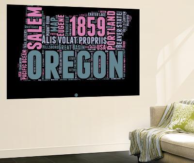Oregon Word Cloud 2-NaxArt-Wall Mural