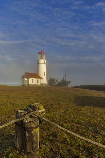 Oregons Oldest Lighthouse at Sunrise at Cape Blanco State Park, Oregon-Chuck Haney-Photographic Print