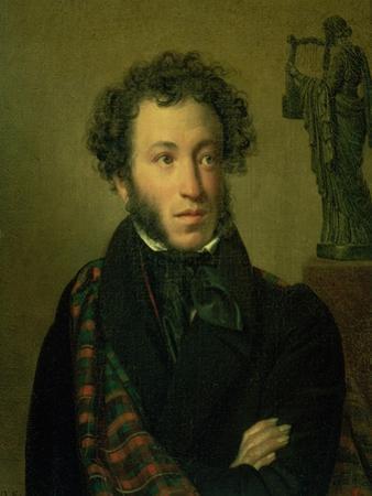 Portrait of Alexander Pushkin, 1827 by Orest Adamovich Kiprensky