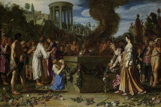 Orestes and Pylades Disputing at the Altar, 1614-Pieter Lastman-Giclee Print