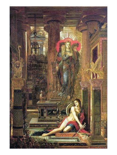 Orestes and the Erinyes, 1891-Gustave Moreau-Giclee Print