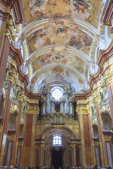 Organ. Church of the Abbey. Melk Abbey. Melk. Austria-Tom Norring-Photographic Print