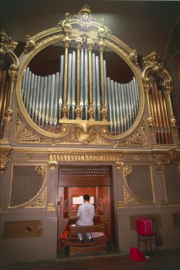 Organ Player--Photographic Print