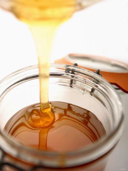 Organic Honey Running into a Honey Jar-Paul Blundell-Photographic Print