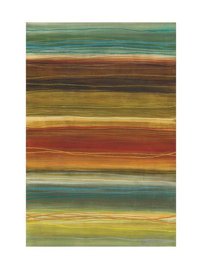 Organic Layers II - Stripes, Layers-Jeni Lee-Art Print