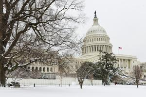 The Capitol in Snow - Washington Dc, United States of America by Orhan