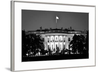The White House At Night - Washington Dc, United States - Black And White