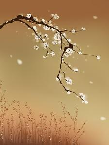Oriental Style Painting, Plum Blossom by ori-artiste