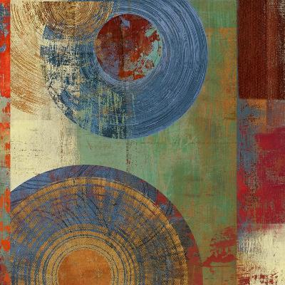 Oribis Blue on Green-Anna Polanski-Art Print