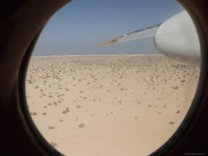 Northern Somalia Coast from Djibouti Airlines Plane by Orien Harvey