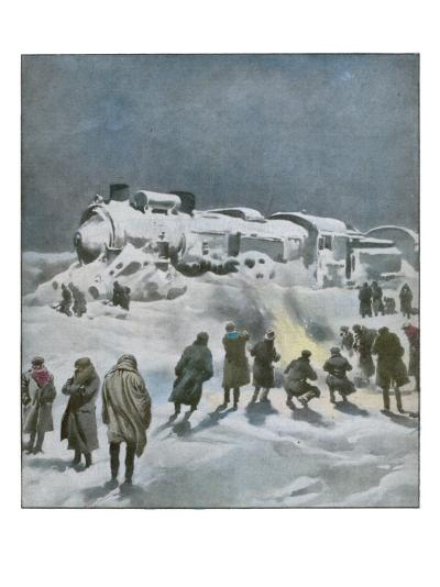 Orient Express Halted--Giclee Print