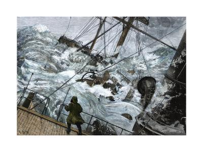 "Orient Line Steamship ""Chimborazo"" in a Gale, 1880--Giclee Print"