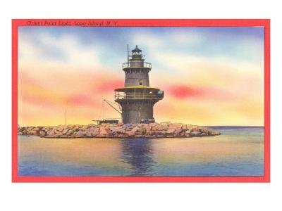 Orient Point Lighthouse, Long Island, New York--Art Print
