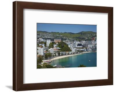 Oriental Bay, Wellington, North Island, New Zealand-David Wall-Framed Photographic Print