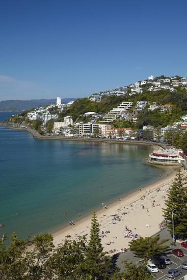 Oriental Bay, Wellington, North Island, New Zealand-David Wall-Photographic Print