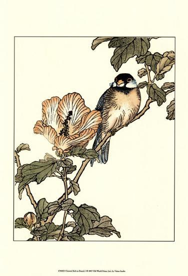 Oriental Bird on Branch I--Art Print