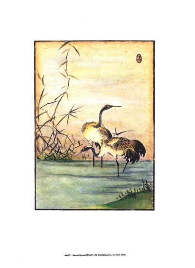 Oriental Cranes II--Art Print