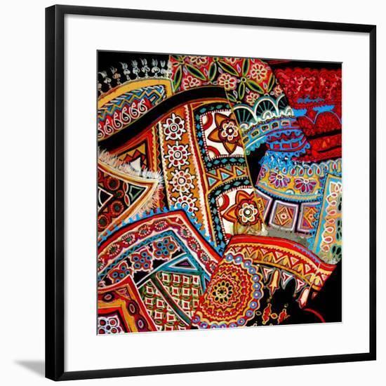 Oriental Fans-Linda Arthurs-Framed Giclee Print