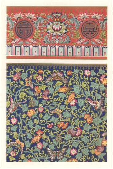 Oriental Floral Patterns--Art Print