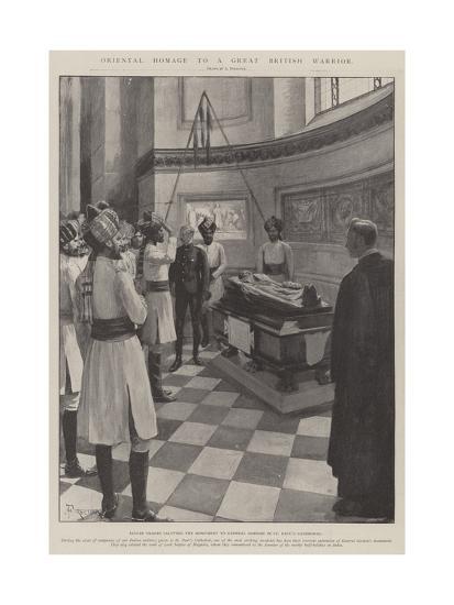 Oriental Homage to a Great British Warrior-Amedee Forestier-Giclee Print