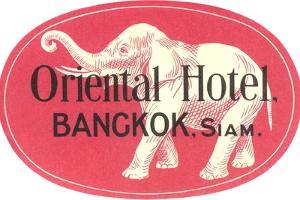 Oriental Hotel, Bangkok, Siam
