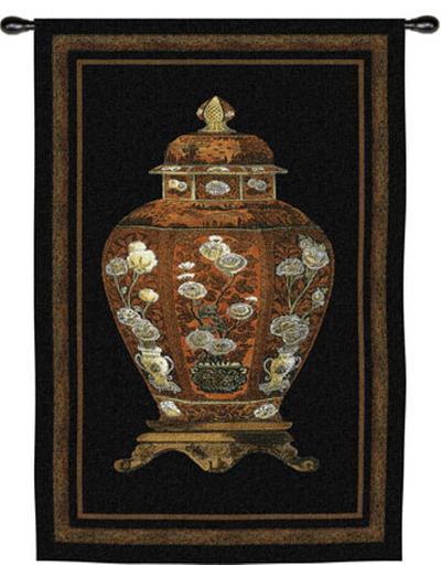 Oriental Jar I--Wall Tapestry