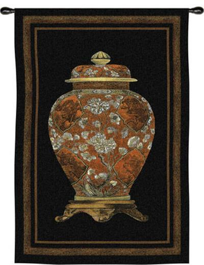 Oriental Jar II--Wall Tapestry