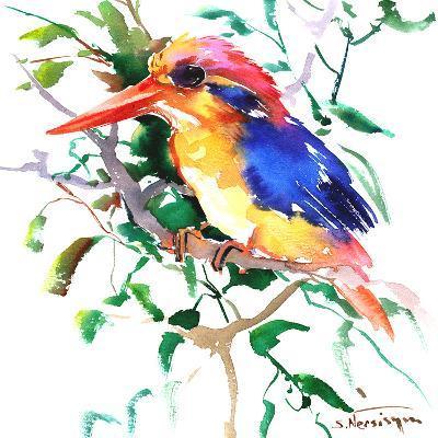 Oriental Kingfisher-Suren Nersisyan-Art Print