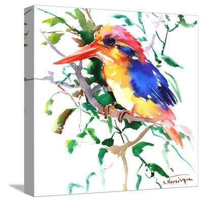 Oriental Kingfisher-Suren Nersisyan-Stretched Canvas Print